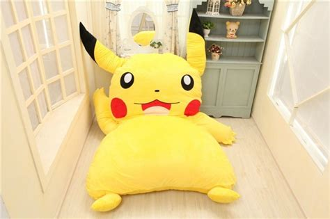 pikachu bed japan anime pokemon pikachu stuffed large cartoon japanese