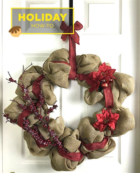 how to geed burlap in a christmas how to make a burlap wreath amazing diy gift idea