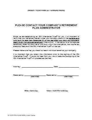 up letter no trust client forms handouts ultimate estate planner
