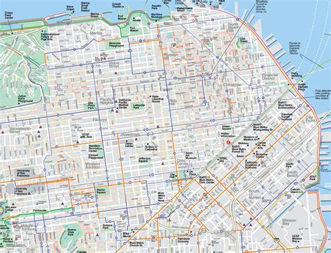 san francisco map to print large san francisco maps for free and print