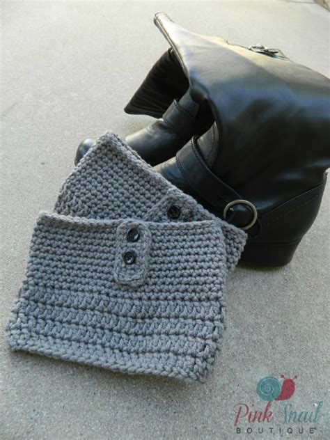 free button boats pattern plus size button free crochet boot cuff pattern cre8tion