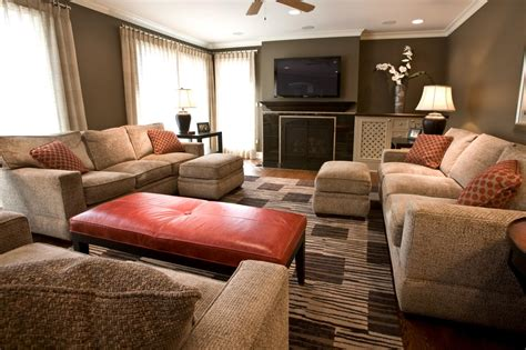 burnt orange living room photos hgtv mitzi beach family great room jpgrendhgtvcom