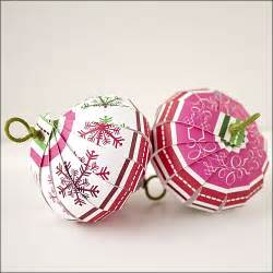 Christmas ornament countdown scrapbook paper balls the crafty