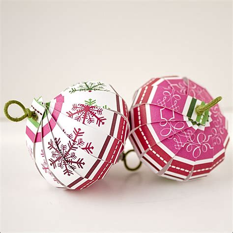 Make Paper Ornaments - ornament countdown scrapbook paper balls the