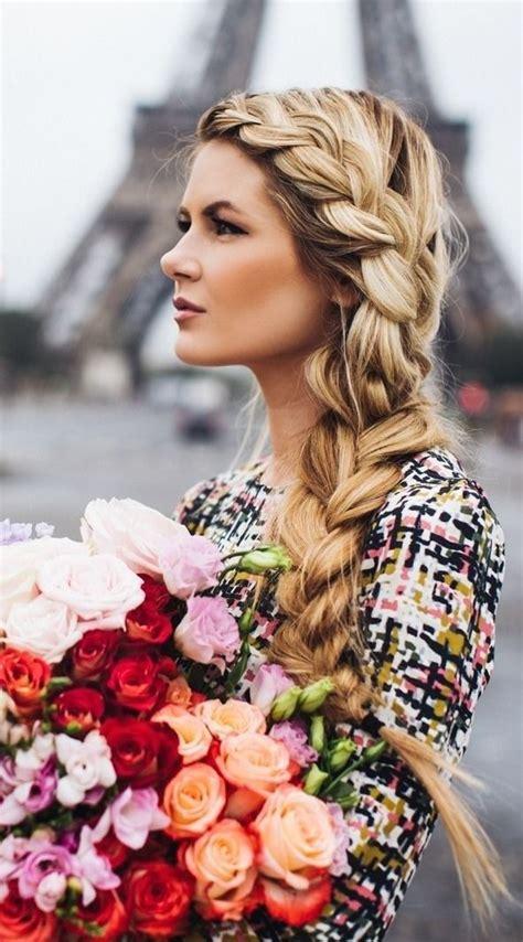 giving boy feminine braids pretty side braid hairstyles sexy flower and highlights