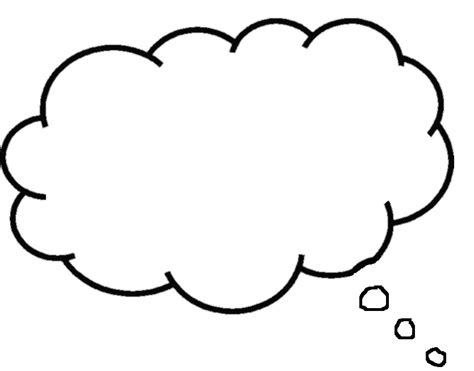 thought template printable thought bubbles clipart best