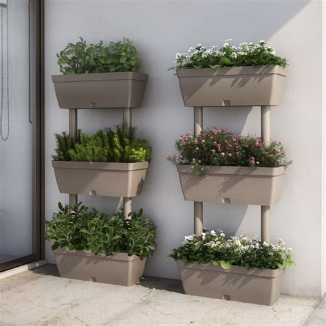 plant pot  level stand trough balcony garden plastic