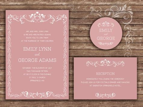 Formal Wedding Invitations by Sle Wedding Invitations Wording Wedding Invitation