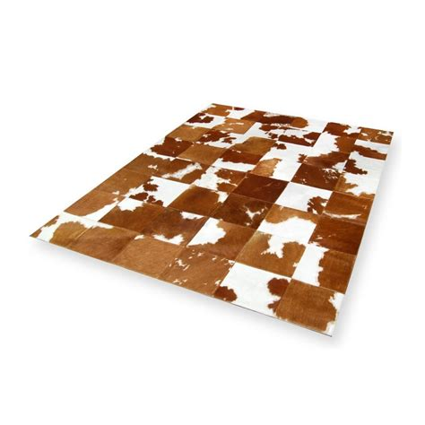 Patchwork Cowhide Rugs - patchwork cowhide rug brown white homedeco furhome