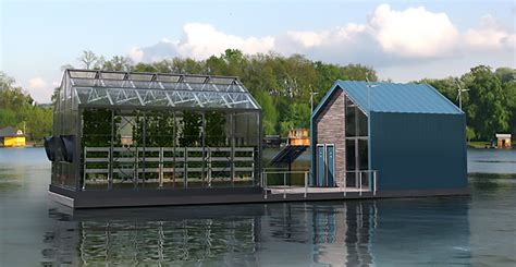 urban green house floating urban greenhouse produces clean energy and