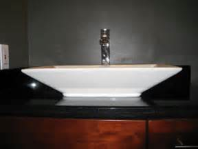 raised bathroom sink granite vanity top raised sink deck mount faucet