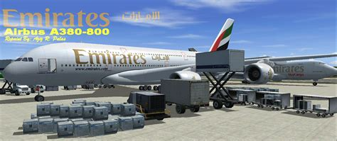 When The Lights All Shine Emirates Airbus A380 800 Registration A6 Eda For Fs2004