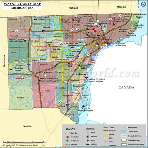 wayne airport map wayne county map michigan
