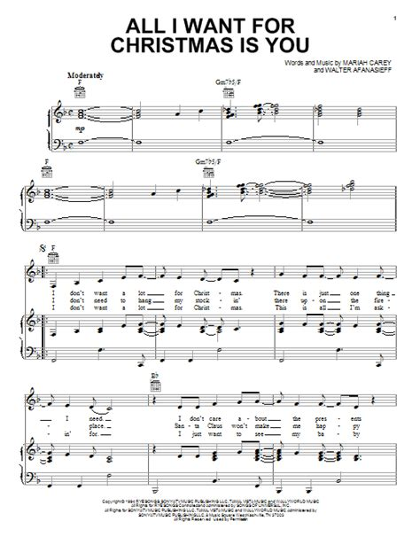 tutorial piano all i want for christmas is you all i want for christmas is you sheet music direct