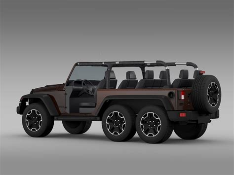 jeep new model 2016 jeep wrangler rubicon 6x6 2016 3d model max obj 3ds fbx
