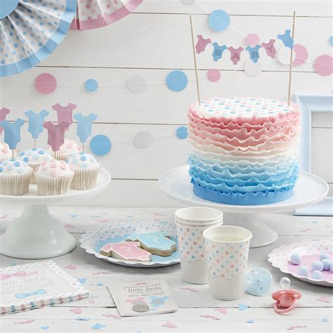 Madeleine Cupcakes Blue baby pink and blue cake bunting topper madeline mae