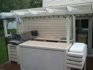 white new outdoor kitchen diy projects
