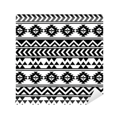 changing pattern of tribal livelihoods aztec tribal seamless black and white pattern wall mural