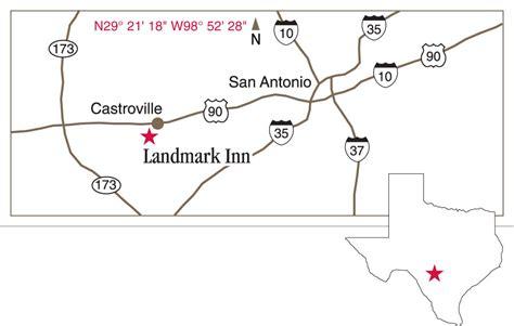 map of castroville texas landmark inn state historic site castroville texas texas historical commission