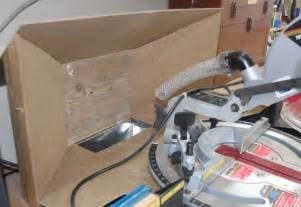 Table Saw Dust Collector Miter Saw Dust Collection Shop Built Sliding Compound