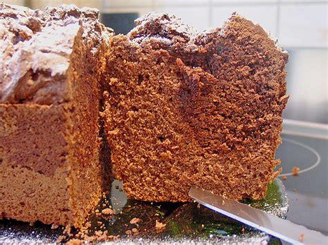 kuchen kastenform cappu choco kuchen in der kastenform rezept mit bild