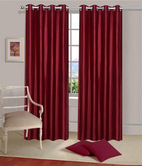 solid red curtains sanaya set of 2 door eyelet curtains solid red buy