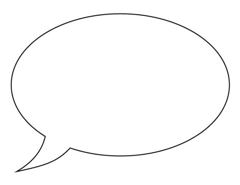speech balloon template printable speech pattern use the pattern for