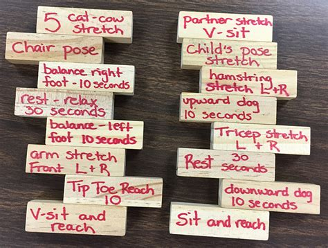 Or Jenga Ideas Pec Lesson Plans For Physical Education