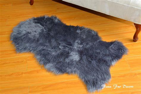 faux fur sheepskin rug sheepskin rugs faux fur shapes flokati gray shaggy fur