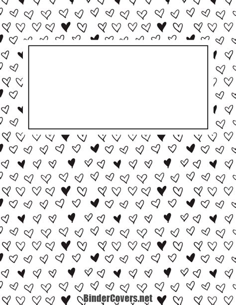 free printable binder covers black and white printable black and white heart binder cover