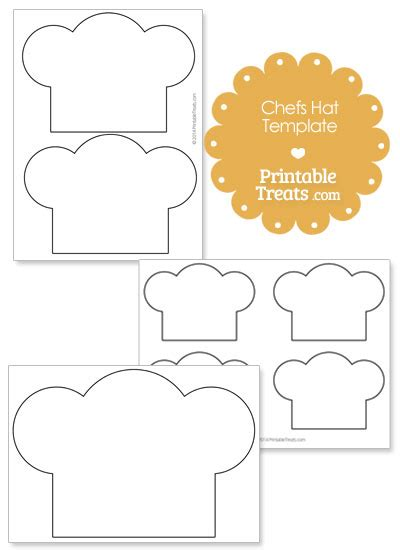 printable chef hat template printable chefs hat outline printable treats