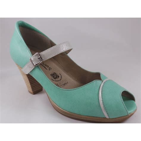 4 43 116 mint green leather peep toe shoe from