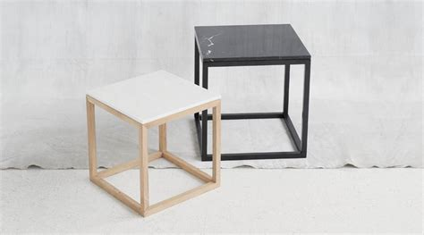 Design Beistelltisch Holz by The Cube Table Dam I Holzdesignpur