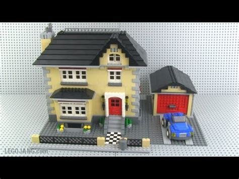 house creator lego creator 4954 model town house mini review