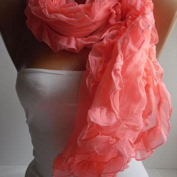 Pasmina Two Curly hotpink curly shawl scarf from diduci on etsy gifts