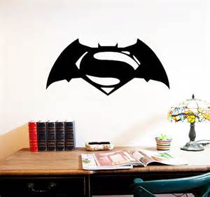 Batman Home Decor by Batman Superman Wall Decals Home Decor Room Decoration