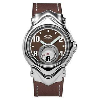 oakley s jury ii polished stainless steel brown brown leather 10 297