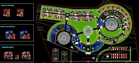 tourism ecolodge  dwg design full project  autocad