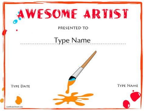 certificate templates for art awards technology rocks seriously certificate street