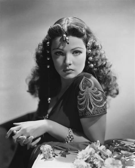 Gene Tierney : Muses, Cinematic Women   The Red List