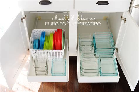 Organize My Kitchen Cabinets purge day 15 tupperware a bowl full of lemons