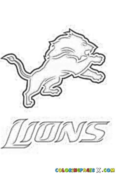 nfl lions coloring pages free coloring pages of nfl lions