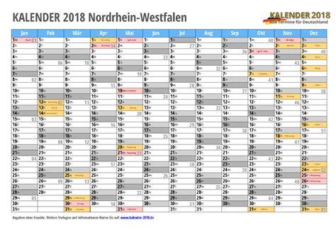 kalender 2018 nrw zum ausdrucken 171 kalender 2018