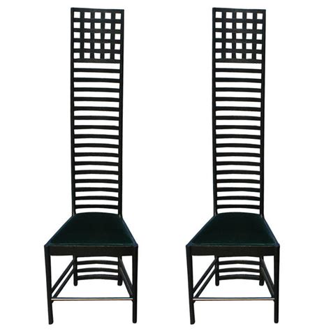 Mcm Furniture by Pair Charles Rennie Mackintosh Hill House Chairs By Cassina