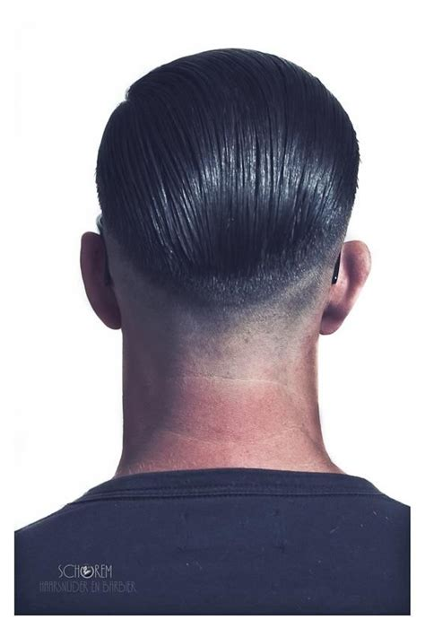 hair tapers at the back tightly tapered slickback mr me pinterest men hair