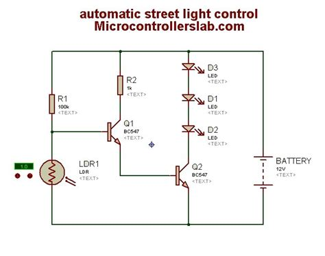 automatic light circuit diagram