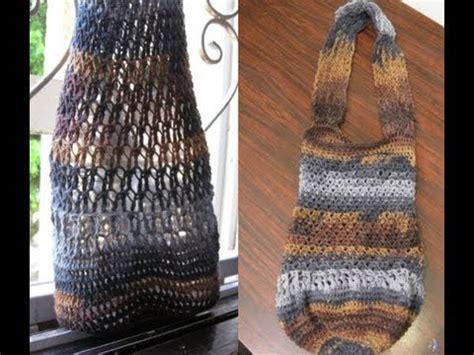 crochet grocery bag pattern youtube mesh tote bag crochet tutorial youtube