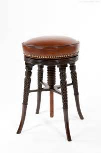 a regency mahogany adjustable piano stool antiques