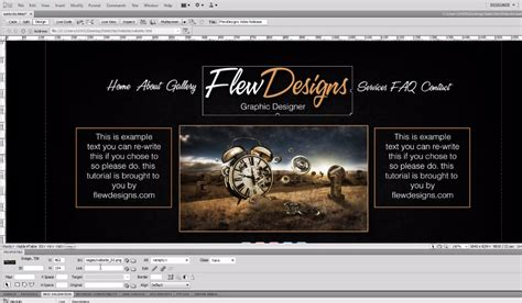 tutorial photoshop dreamweaver website uncategorized web graphic design news