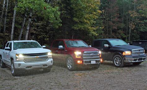 Ford Truck Vs Chevy by 2016 Ford F 150 Vs Ram 1500 Ecodiesel Vs Chevy Silverado